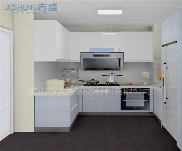 吉盛定制厨房橱柜|环保板式橱柜|吊柜橱柜设计